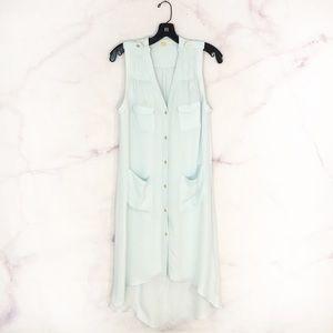 Anthropologie Leifsdottir Zenith Silk Button Dress